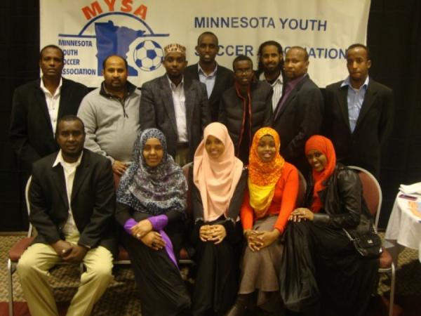 SAYEC: 2012 MYSA recognition banquet where coach Ahmed Mahamud (Geedi) won coach of the year and Abdirizak Said (Marshalle) won Volunteer of the year.